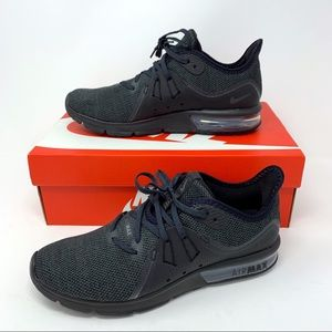 Nike Air Max All Black Sequent 3 Size 8.5